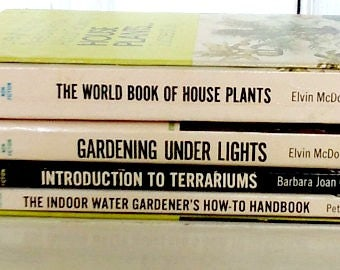 Box Set/4 Books/Everything You Need to Know About Growing House Plants Successfully/Popular Library 1970s/Good Condition/lindafrenchgallery