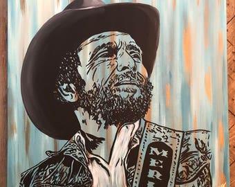 Merle Haggard  Canvas Painting