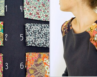 Deep Purple sweater and yoke liberty/Japanese choices