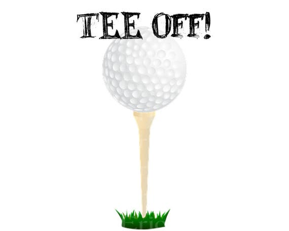 Tee Off! Golf Happy Birthday - Edible Cake and Cupcake Topper For Birthday's and Parties! - D22750