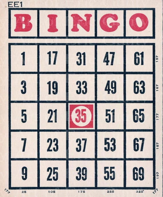 Party Bingo Card Birthday - Edible Cake and Cupcake Topper For Birthday's and Parties! - D22903
