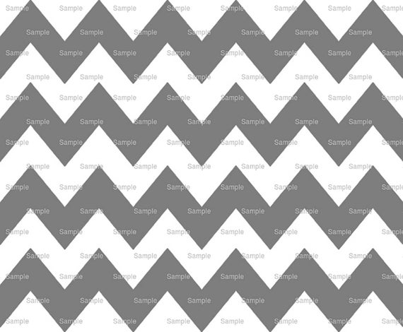 Grey - Chevron Background Birthday - Edible Cake and Cupcake Topper For Birthday's and Parties! - D6346
