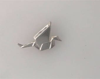 Sterling Silver 3-D Origami Crane Charm