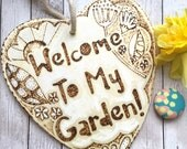 Wood Sign for Garden, Welcome To My Garden, Gardening Gift, Fathers Day, New Home, Wooden Gifts, Mum Birthday, Best Friend, Garden Lovers.