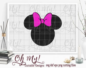Minnie Mouse Head SVG Dxf Eps Png Cutting File