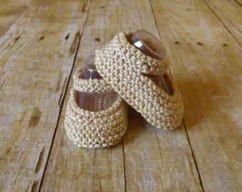 Sahara Crochet Baby Booties