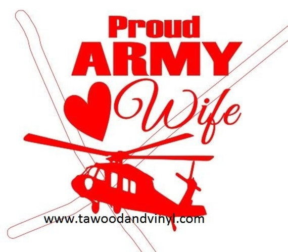 US Army yeti decal, Army yeti Sticker, Army wife, Army mom,cup decals, decal for women, US Army wife, vinyl sticker, yeti tumbler decal