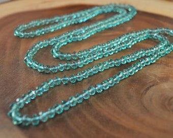 Wrap Necklace, Czech Glass Jewelry, Boho, Double Wrap Necklace, Beaded Wrap Necklace, Bohemian, Long Beaded Necklace, Hand Knotted Necklace