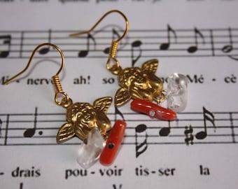 Gold Angel earrings and pendants