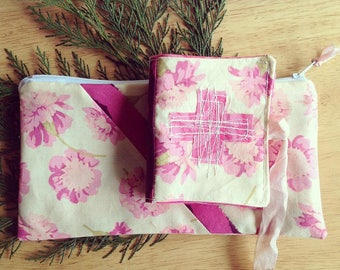 SPRING - a pencil pouch and needle book duo
