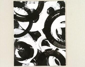 SALE Abstract XL Canvas Black White Painting Geometric Art Zen Wall Art Original Acrylic Art Minimalist Artwork Oversized Painting 24 x 30 c
