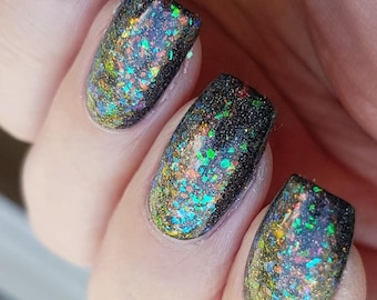 Comet Tail~Out Of Space Collection Unicorn Flakies Holo Topper 10ML