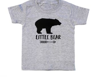 Little Bear Shirt - Gray Toddler Tee - Sister Bear T-shirt - Brother Bear Tshirt - Matching Family