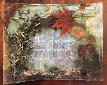 Roots Mixed Media Collage