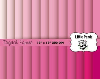 80% OFF SALE Shades of Pink Digital Paper 24 jpg files 12 x 12 - Instant Download - D197
