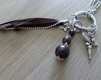 Brown EasyClip fairy pendants