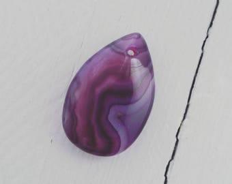 ☆ Stone drop pendant 29x19x8mms ☆ ☆ violet purple agate