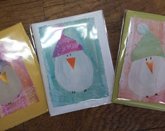 Snowbirds! Hand painted cards