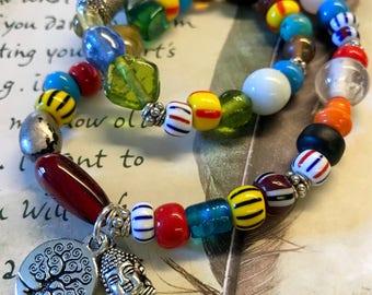 Moroccan beaded bracelet