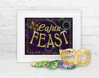 Mardi Gras Party Decoration, Mardi Gras Cajun Feast Party Decor, Mardi Gras Cajun Feast, Mardi Gras Feast Sign, Party Decorations, Feast