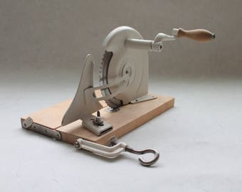 Vintage Wooden Retro  Shred Kitchen Slicer  Gadgets Housewares Rustic Primitive Slicer Tool from USSR Era Soviet Kitchen Tool Cutter
