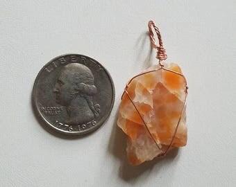 Orange Calcite Pendant