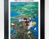 Kiki's Delivery Service A3 Movie Poster Studio Ghibli Unframed