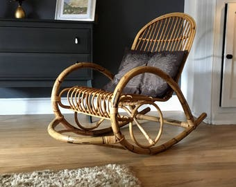 Vintage French Franco Albini Rocking chair