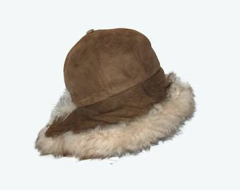 70's Fredrikson warm sheepskin hat, Made in Finland