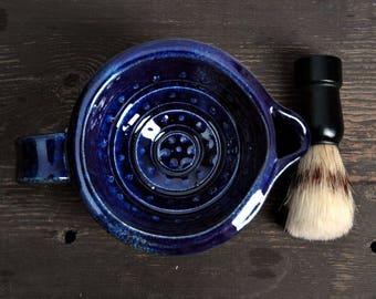 Shaving cup, gift for him,  shaving Mug, Blue Shaving Scuttle,Shaving bowl, Mug for shaving