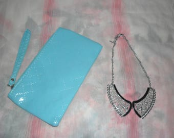 1 Beautiful Clutch Bag and Unique  Necklace set for special  gift