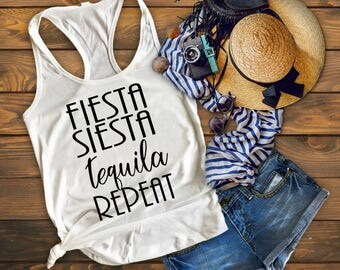 Cinco De Mayo Shirt, Bachelorette Party Shirts, Fiesta Siesta Tequila Repeat, Tequila Shirt, Fiesta Bachelorette Shirts, Margarita Shirt