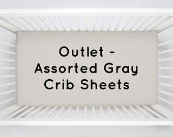 OUTLET 4-Pack of Assorted Gray Crib Sheets by Carousel Designs