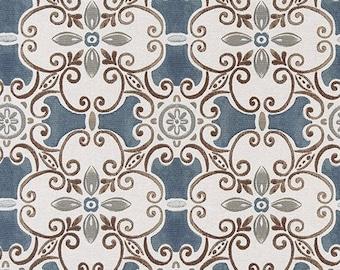 Premier Prints Promenade Riverway Flax fabric BTY - Beautiful BRAND NEW Pattern