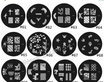 On Sale nail stamping plate series M-61 to M-92  Nail Art