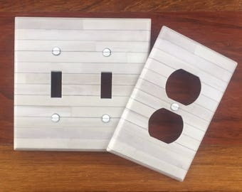 White wood light switch plate cover image 84 // SAME DAY SHIPPING**