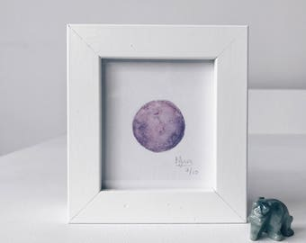 Framed Mini Moon Limited Edition Number 7/10