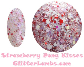 Strawberry Pony Kisses Nail Polish-Glitter Lambs Nail Polish-Glitter Nail Polish-Strawberry Pony Kisses Nail Polish-Strawberry Pony Kisses