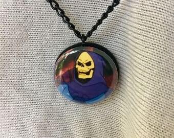 Pop Culture He-Man Cartoon Skeletor Pendant Villians Necklace Great Gift