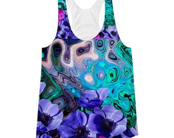 Violets by the Sea Racerback Tank