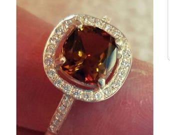 Bi-color Tourmaline Ring
