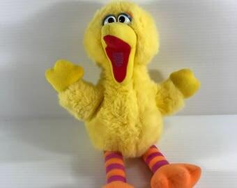 BIG BIRD PLUSH Toy, Vintage Sesame Street toy, Large plush Big Bird, Stuffed Big Bird, Playskool plush Big Bird, Plush Toy for child