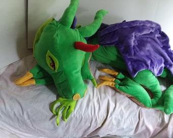 Giant Green Dragon Plush