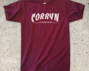 Corbyn T-Shirt - All Colours - Unisex / Mens S M L XL - Jeremy Corbyn Labour Party