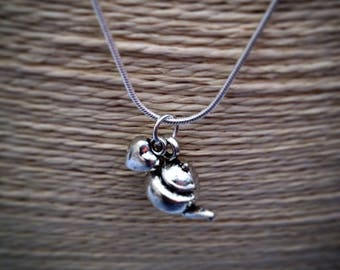Silver Teapot Necklace on silver snake chain