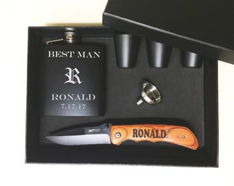 Groomsmen Gift, Man Gift, Groomsmen Gift Set, Personalized Knife, Groomsman Gift Box, Personalized Knives Set, Engraved Gift, Best man Gift