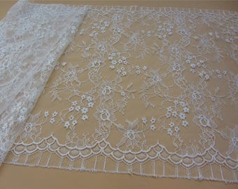 Chantilly Eyelash Lace Trim, Chantilly Lace Fabric, 50cm Wide for Veil, Dress, Costume, Craft Making, 3 Meter/piece