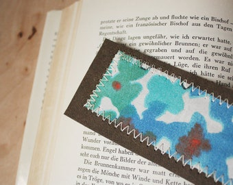 Bookmark blue flowers