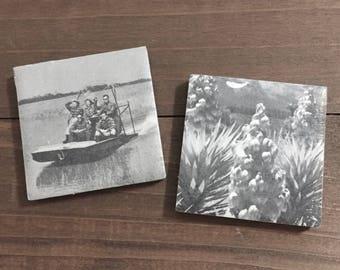 Vintage 1950s Book Magnets, Everglades National Park #3, Set of 2