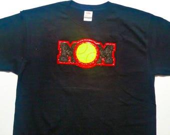 Custom Embroidered Softball Mom Shirt - Softball Mom Gift - Personalized Shirt - Softball Team - Game Day - Team Mom - Sports Mom